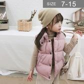 韓版男女童背心。ROUROU童裝。秋冬男女童中小童純色百搭鋪棉背心 0344-067