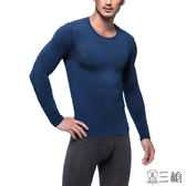 三槍牌 2件組丈青色時尚經典台灣製男長袖TG-HEAT發熱衣