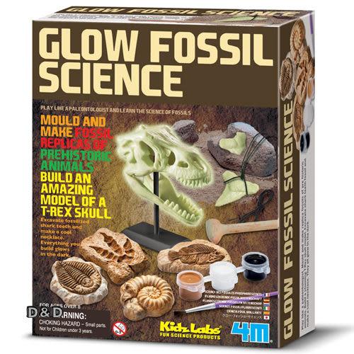 《4M挖掘考古》Glow Fossil Science 夜光化石科學╭★ JOYBUS玩具百貨