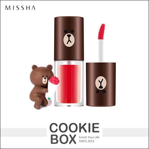 韓國 MISSHA X LINE 聯名款 熊大 水感 唇液 4.5g 顯色 唇蜜 口紅 唇彩 染色 水嫩 *餅乾盒子*