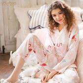 月子服夏季薄款產后哺乳衣純棉和服春秋孕婦睡衣家居服 全館免運