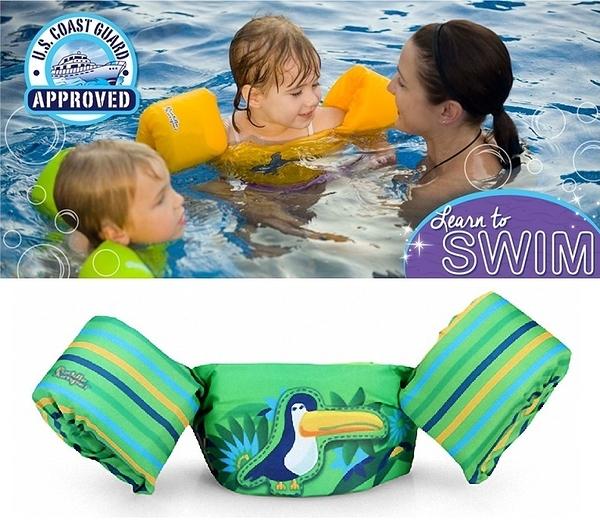 兒童泳衣 浮力夾克 美國學習式救生浮力衣Puddle Jumpe 豪華版 大嘴鳥 體重:14-23公斤 2-6歲