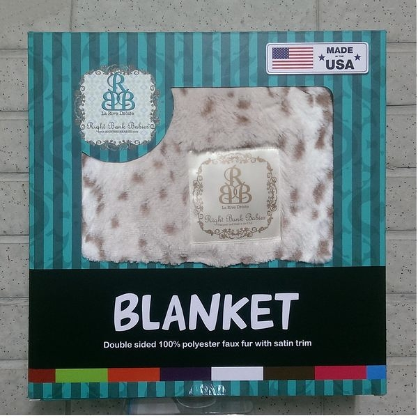 Right Bank Babies 動物系列 豹紋款 嬰兒毯、午睡毯-超級BABY