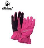 丹大戶外用品【Wildland】荒野 女PR棉防水防風觸控手套 型號 W2003-09 桃紅色