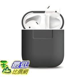 [106美國直購] elago AirPods Silicone Case [Dark Gre Extra Protection for AirPods Case d08