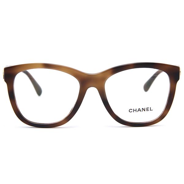 CHANEL 香奈兒 眼鏡 3360A (棕) 簡約 LOGO 近視眼鏡 久必大眼鏡