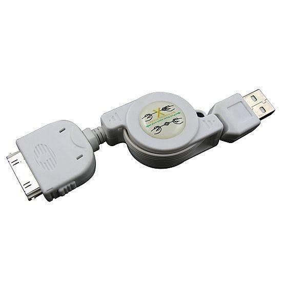 【世明國際】蘋果 iPad/iPhone 2G/3GS/4代 伸縮線 數據線 同步/充電線