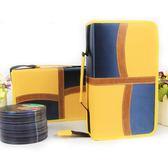 CD盒大容量滌綸布CD包音樂光碟收納包128片裝汽車碟片整理包防潮  檸檬衣舍