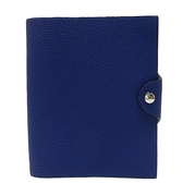 HERMES 愛馬仕 Ulysse PM notebook cover 7T Bleu Electrique 閃電藍牛皮筆記本 Y刻