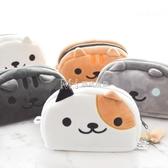 文具盒日本卡通小貓毛絨貓咪大容量學生筆袋鉛筆文具盒 琉璃美衣