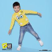 STAYREAL x SpongeBob 泡泡海綿厚棉T - 黑標mini版