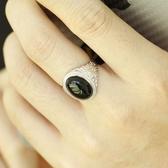 天然黑瑪瑙戒指女復古黑潮人個性男女情侶指