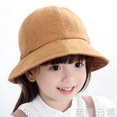 兒童帽子春秋女寶寶帽子韓版公主可愛盆帽女童防曬遮陽帽漁夫帽夏 至簡元素