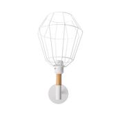 (組)特力屋萊特烤漆壁燈鐵線白燈罩