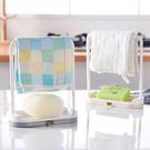 【H263】廚房整理抹布海綿瀝水架 收納架 毛巾 洗碗布 (2色可選)