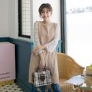 CANTWO蕾絲拼接直筒洋裝 百貨專櫃女裝 韓系輕甜優雅 迷人透膚蕾絲細節