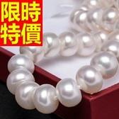 珍珠項鍊 單顆8-9mm-生日情人節禮物美麗典雅女性飾品53pe2【巴黎精品】