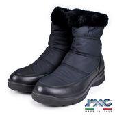 【IMAC】義大利毛飾保暖氣墊中筒靴  黑色(82778-BL)