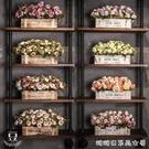 仿真植物-客廳仿真假花籃盆栽裝飾柵欄擺件...