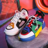 運動鞋 韓版平底厚底學生百搭運動鞋