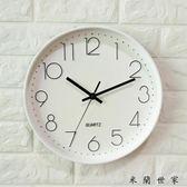 創意大氣掛墻鐘圓形臥室鐘表