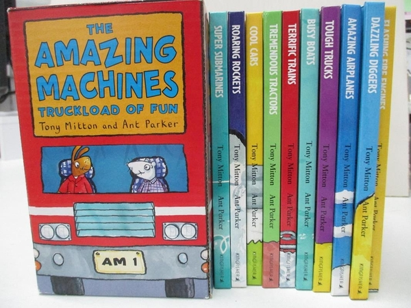 【書寶二手書T4/兒童文學_KJ7】The Amazing Machines-Truckload of Fun…_Mitton, Tony/ Parker, Ant (ILT)