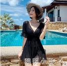 游泳衣女2021年新款爆款顯瘦遮肚大碼ins風仙女范女士泡溫泉泳裝 蘿莉新品