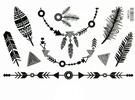 薇嘉雅 印第安飾品紋身貼紙HM906