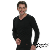 PolarStar 彈性保暖排汗V領衫 黑