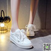 小白鞋小白鞋女秋季新款百搭韓版chic春季時尚厚底學生鞋子系帶板鞋 雙12購物節