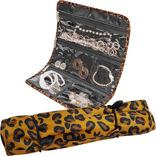 《TRAVELON》隨行珠寶袋(棕豹紋)