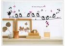兒童房 店面 佈置 卡通 DIY 牆貼 組合貼 情境 小鳥