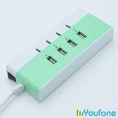 【Youfone】USB智慧充電座(蘋果綠)