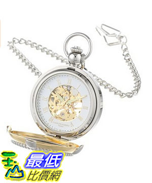 [美國直購] 手錶 Charles Hubert 3846 Two-Tone Mechanical Picture Frame Pocket Watch