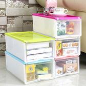 ✭米菈 館✭【R50 】 式翻蓋加大鞋盒透明收納置物儲物雜物可疊加加厚抽屜式加厚