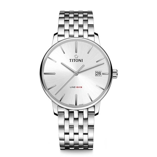TITONI 梅花 LINE1919 超薄自製機芯 機械錶 83919S-575