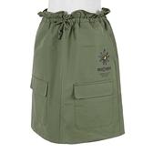 Skechers [L321W119-01CL] 女 短裙 束口 彈性束腰 簡約 素面 百搭 舒適 穿搭 軍綠