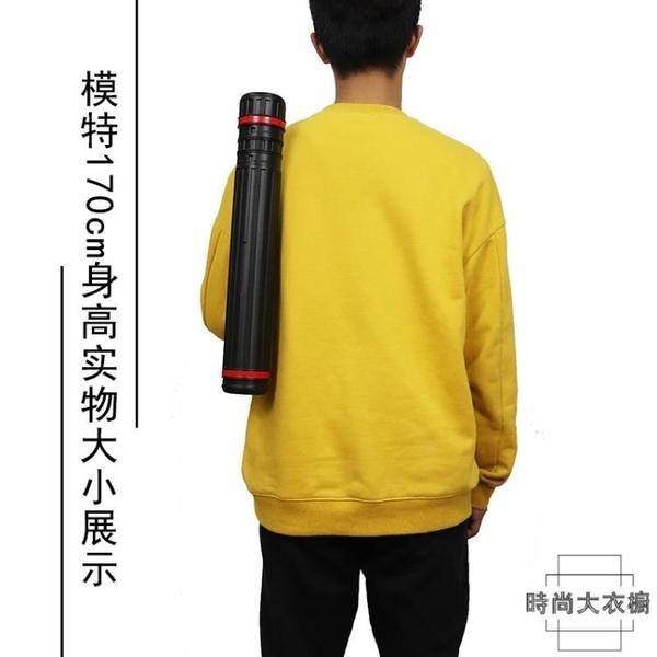 可伸縮畫筒塑料防潮a1海報圖紙國畫收納筒紙筒【時尚大衣櫥】