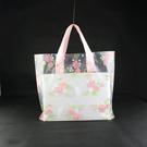 10入玫瑰花 塑膠手提袋 包裝袋 PE袋 禮品袋 婚禮小物 派對袋【D064】