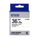 EPSON LK-7WBN C53S657401 一般系列白底黑字標籤帶 寬度36mm