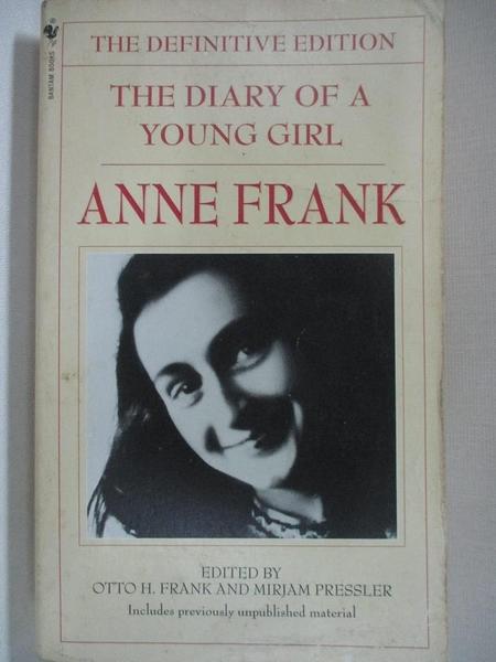 【書寶二手書T1/原文書_B9A】The Diary of a Young Girl-The Definitive Edition_Frank, Anne
