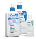 [超值組]適樂膚 CeraVe長效清爽保濕乳 473ml x2+溫和泡沫潔膚露88ml x1[美十樂藥妝保健]
