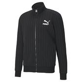 Puma Pinstripe 男款黑色條紋立領外套-NO.53017701