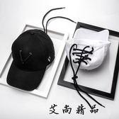 帽子黑白色棒球帽潮流個性鴨舌帽