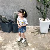 女童裝 童裝女童半袖t恤夏季短袖上衣2018新款卡通洋氣寶寶衣服兒童體恤【韓衣潮人】