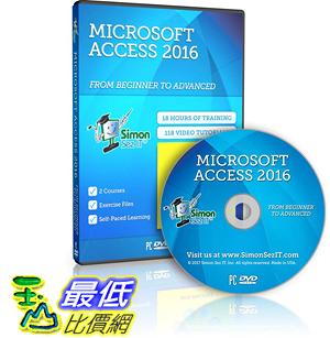 [7美國直購] 2018 amazon 亞馬遜暢銷軟體 Master Access 2016 Training Course - 18 Hours of Access