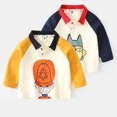 全館免運八折促銷-男童長袖t恤小童2018新款秋季童裝3兒童polo衫女春秋上衣寶寶秋裝