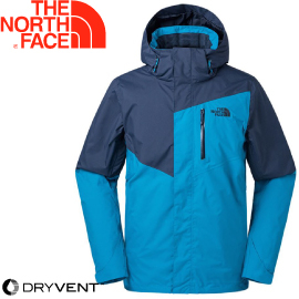 【The North Face 男款 DryVent 防水外套ZIP《天空藍/海藍》】3665WFJ/衝鋒衣/防水/保暖/外套★滿額送