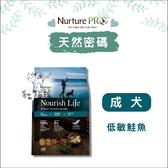 送一包454g小包裝,Nurture PRO天然密碼〔成犬,低敏鮭魚,1.8kg〕 產地:美國