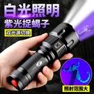 手電筒 蝎子燈專用捕蝎超亮強光 抓捉照蝎子燈紫光燈手電充電專用頭戴式  零度